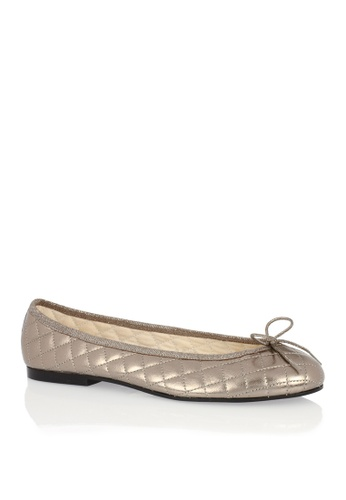 Covet silver French Sole Henrietta Ballet Flats CO331SH08EAPPH_1