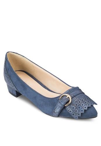 雕花esprit床組尖頭平底鞋, 女鞋, 厚底高跟鞋