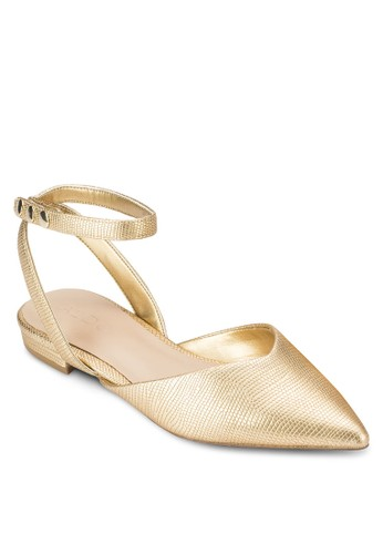 Brieni 尖頭繞踝esprit 評價平底涼鞋, 女鞋, 鞋