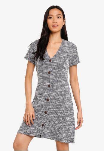 Cotton On blue Marlow Button Through Mini Dress 64036AA604195BGS_1