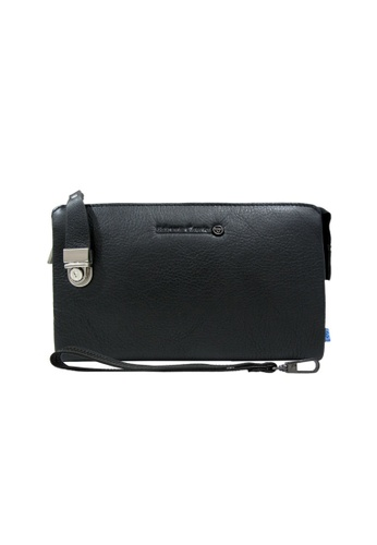EXTREME black Extreme Genuine Leather Clutch Bag With Lock B91D8AC78D2B42GS_1