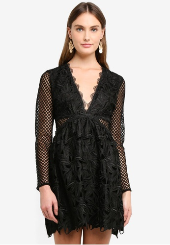 129d8469d9 Shop True Decadence V Neck Long Sleeve Mini Dress Online on ZALORA ...