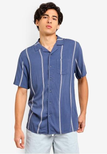 Cotton On 藍色 條紋襯衫 37AB2AADDF161AGS_1