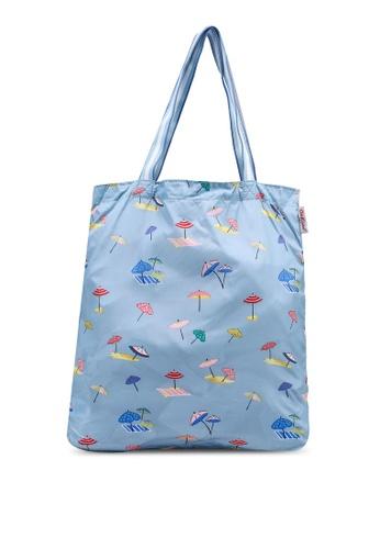 Cath Kidston blue Sunny Parasols Small Foldaway Tote Bag 9DBF8AC16F080EGS_1