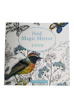 Coloring Thin Book Anti Stress Bird Magic Mirror