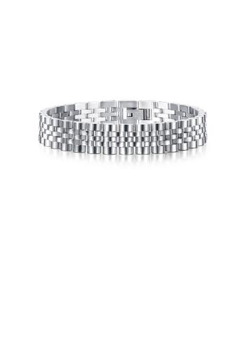Glamorousky silver Fashion Personality Geometric Chain 316L Stainless Steel Bracelet 65C15AC27C3B5BGS_1