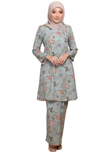 ANNIS EXCLUSIVE grey Kurung Pahang Mahsuri (AE091PHM Grey) 3AA75AA08A912CGS_1