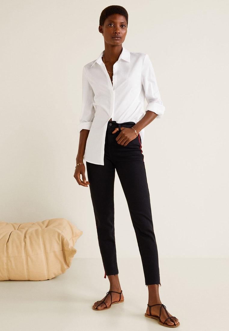 Grey Jeans Open Contrast Panels Mango xRPwFIq