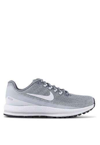 Nike grey and white Women's Nike Air Zoom Vomero 13 Running Shoes BFD6ESH2172AE0GS_1