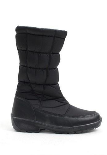 Crystal Korea Fashion 黑色 韓國製冬季保暖防水雪靴 CR681SH2VRT0HK_1
