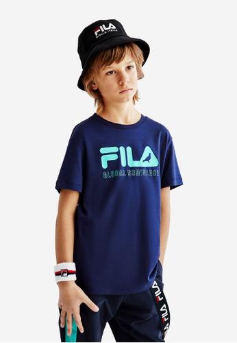 FILA navy FILA KIDS FILA x STAPLE Logo Cotton T-shirt 10-15yrs 59EB0KA75627D5GS_1