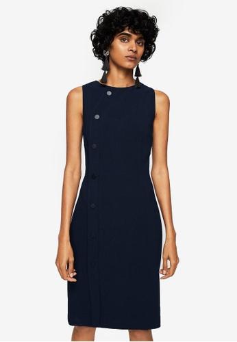 Mango blue Buttoned Dress 4ADD0AA04D5508GS_1