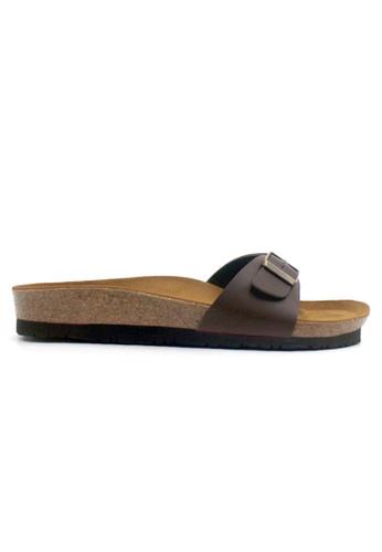 SoleSimple 褐色 Lyon - 棕褐色 百搭/搭帶 軟木涼鞋 A2F13SHE74438AGS_1