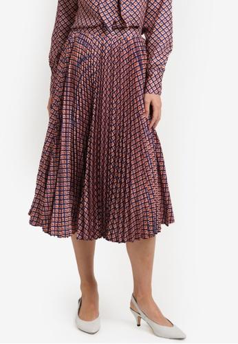 ZALORA pink Pleated Skirt CCD80AAB306F0DGS_1