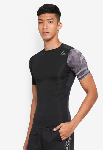 Reebok black Activchill Graphic Compression Tee RE691AA0SVZEMY_1