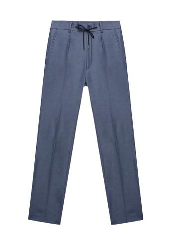 D'urban blue Straight Leg Pants 31C3EAA10BB2C4GS_1