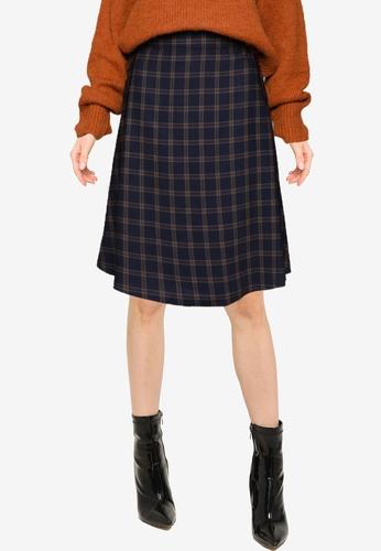 LOWRYS FARM navy Flared Skirt ED212AAF10E5A0GS_1