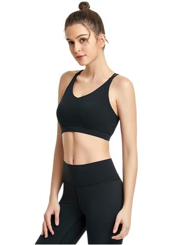 B-Code black ZWG1112a-Lady Quick Drying Running Fitness Yoga Sports Bra-Black 24F67AAB2408F8GS_1