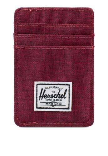 Herschel red Raven RFID Cardholder 64BBEACAF9F627GS_1