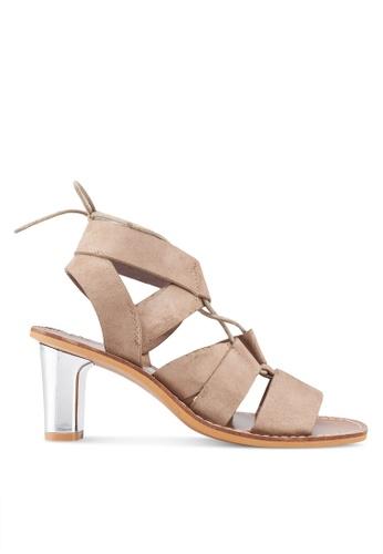 e29939b164 Shop VANESSA WU Lace Up Kitten Sandal Heels Online on ZALORA Philippines