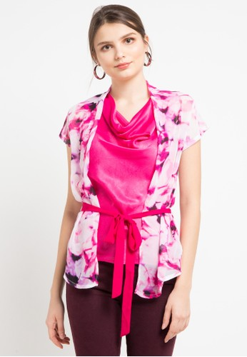 WHITEMODE pink and multi Jamie Blouses F58E5AA260569FGS_1