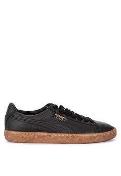 351ae0ed7dadf9 Puma black Basket Classic Gum Deluxe Sneakers B13CASH0A5F147GS 1