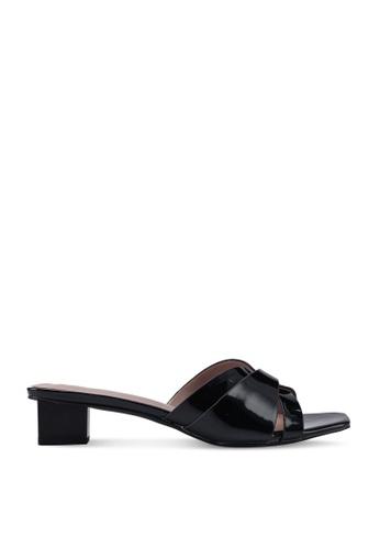 nose 黑色 Low Strappy Heel Slides 68574SH888F273GS_1