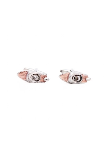 Red Stag And Hind gold Red Stag And Hind Rose Gold Speedboat Cufflinks 33568AC06B037BGS_1