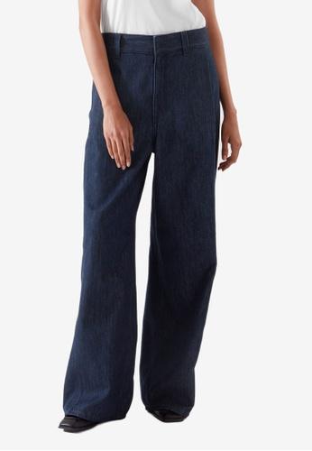 Cos blue Flared High-Rise Jeans 16365AA080BDA9GS_1