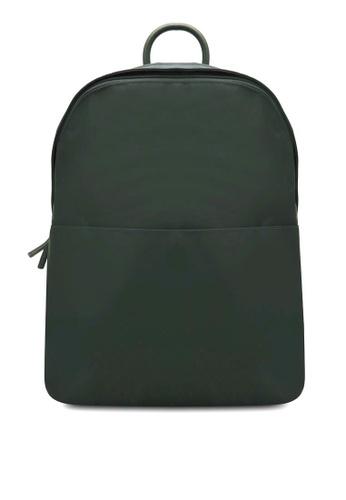 NUVEAU green Minimalist Oxford Backpack NU245AC0S0G9MY_1