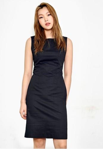 簡約無袖及膝鉛筆洋裝, esprit暢貨中心服飾, 洋裝