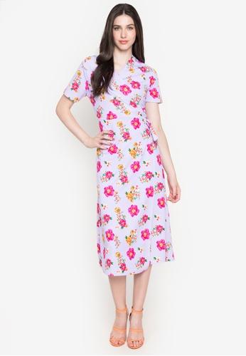 Deity purple Kimono Wrap Maxi Dress ED1F5AA1F96388GS_1