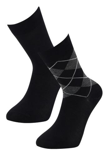 DeFacto black 2-pack Socks BDE19AA5CDEFCCGS_1