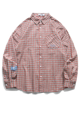 Twenty Eight Shoes Loose-Fitting Plaid Shirt HH0815 2A7C4AA8E8D8DDGS_1