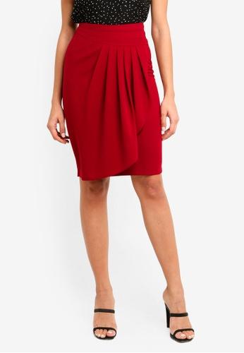 ZALORA red Wrap Skirt 6C646AA7C965AFGS_1