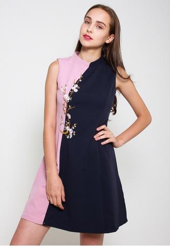 Leline Style blue Elaina Pastel Cheongsam Dress EB55FAAE9F1866GS_1