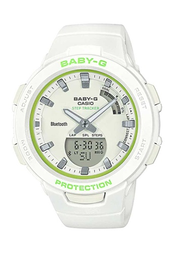 CASIO white Casio Baby-G G-Squad Green and White Resin Watch 57AA0AC2552FA0GS_1
