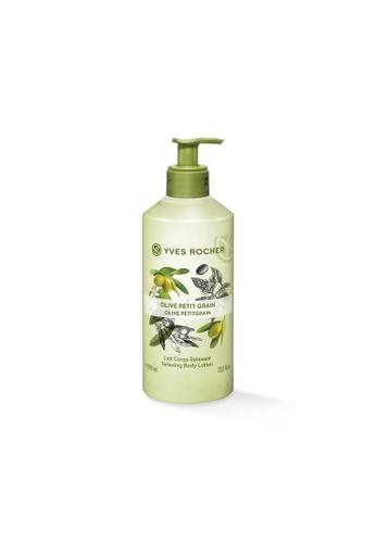 Yves Rocher green Relaxing Olive Petit Grain Body Lotion 390ml YV460BE15LLCSG_1