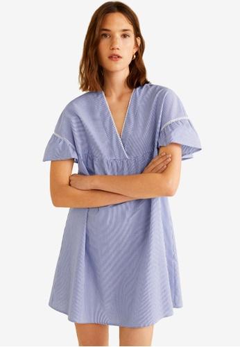 Mango blue Striped Cotton Dress 8EDB0AA6AC1F97GS_1