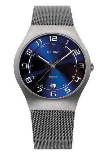 Bering silver Classic 11937-078 Blue 37 mm Women's Watch 4D71DACC17B8C9GS_1