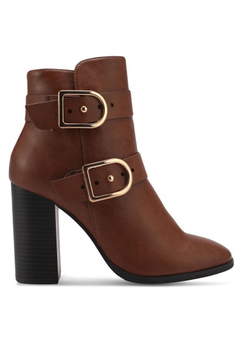Miss KG brown Tan High Heel Boots MI302SH0SNXZMY_1