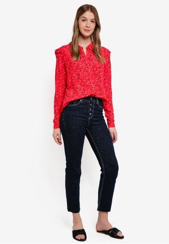 Modstrom red Jemma Print Shirt 9A78BAA7C2AA87GS_1