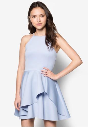 不對esprit 高雄稱荷葉飾連身裙, 服飾, 洋裝