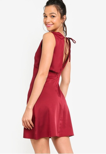 Something Borrowed red Open Back Fit & Flare Dress A84FFAA54FCD78GS_1