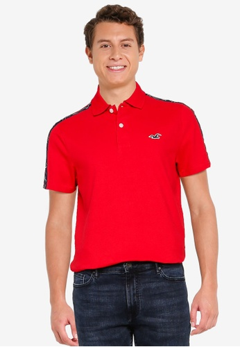 Hollister red Logo Tape Polo Shirt 01AB3AA1354C1DGS_1