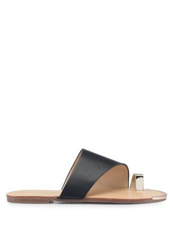 Mimosa 黑色 金屬環夾腳涼鞋 EE83ASH851263DGS_1