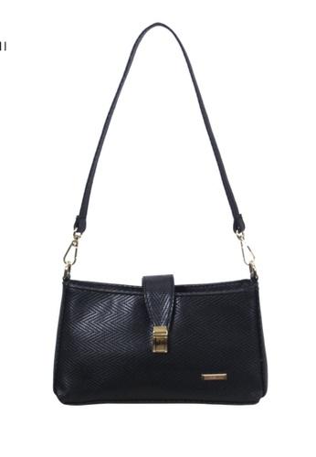 Verchini black Verchini Embellished Push-Lock Crossbody Bag 5C898AC1A109EEGS_1