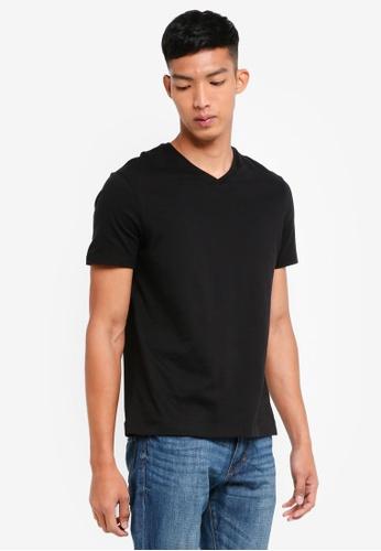Burton Menswear London 黑色 Black V-Neck T-Shirt BF1C0AA9B9D28EGS_1