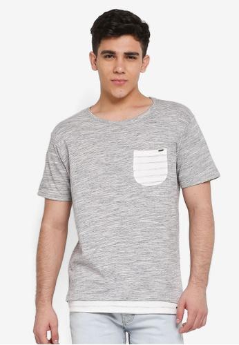 Indicode Jeans 黑色 混色口袋T恤 F1597AA8C45790GS_1