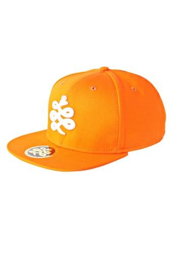 Chronomart black and orange Baem K-Pop Brand Logo Snapback Casual Baseball Cap CH783AC67WYQPH_1